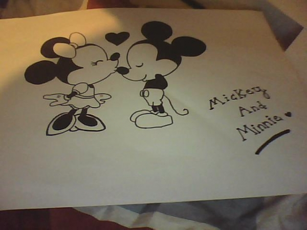 Minnie Mouse, Mickey Mouse by Nana1D